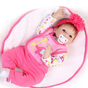 Boneca Bebê Reborn 55 Cm Cabelo Implantado Envio Imediato