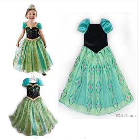 Vestidos Disfraz Frozen Anna Verde