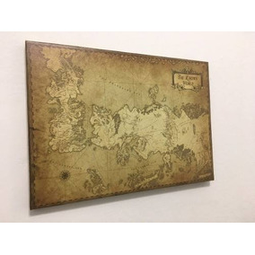 Cuadro Mapa Game Of Thrones B Cuerina 55x80 Cm