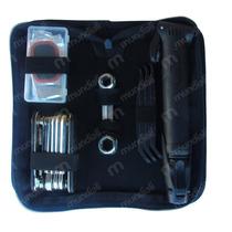Kit Ferramenta Bike C/ Bolsa + Acessórios Bomba Reparo Chave