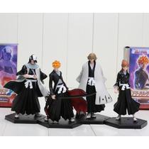 Action Figure Bleach (ichigo, Inoue, Urahara, Byakuya) Un.
