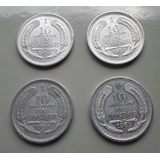 Lote: 10 Pesos: Un Condor 1956-57-58-59 ( N C )
