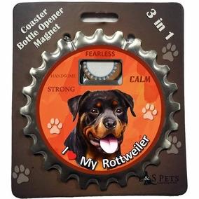 Destapador Imantado 3 En 1 Rottweiler - Acero Inoxidable