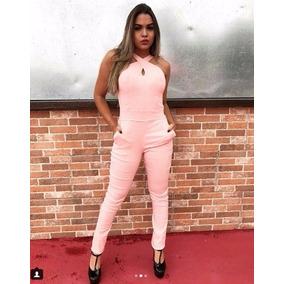 Macacão para Feminino Rosa claro em Santos no Mercado Livre Brasil a315426cc032d