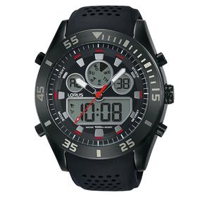 Reloj Analógico Marca Lorus Modelo: R2335lx9 Color Negro Par