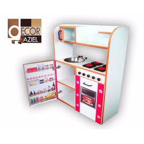 Casa Para Muñecas Cocina De Niñas Cocinita Mdf Juguete