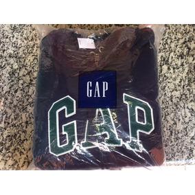 Moleton Gap Blusa Original Com Ziper, Forro, Bordado Origin