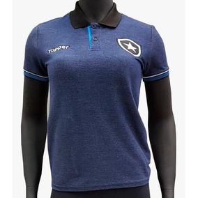 Camisa Polo Feminina Topper Marinho