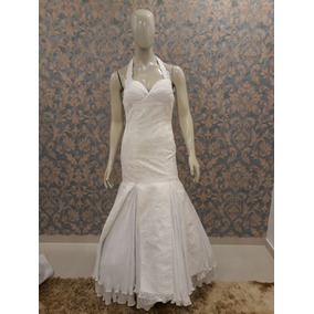 Vestido Noiva Brancosereia Renda Frente Única N-197