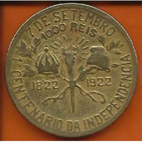 Moeda 1000 Réis De 1922 - Série Centenário Da Independência