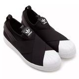 4d1d12dfc5 Tênis Estilo adidas Slip On Elastico Unissex Preto