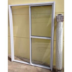 Puerta ventana balcon con cortina aberturas ventanas de for Puerta balcon pvc