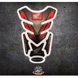 Sticker Cubre Tanque Moto Tankpad Honda Rojo/negro