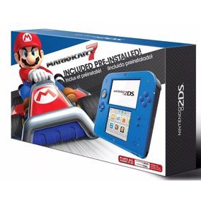 Nintendo 2ds Blue 4gb 100% Desbloqueado + Jogos De 3ds