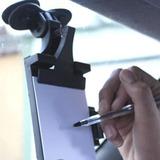 Prancheta Para Carro Anotações C/ Bloco E Caneta Com Ventosa