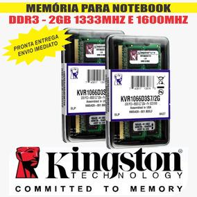 Memória Kingston Ddr3 2gb 1333 Mhz Notebook Novas E Lacradas