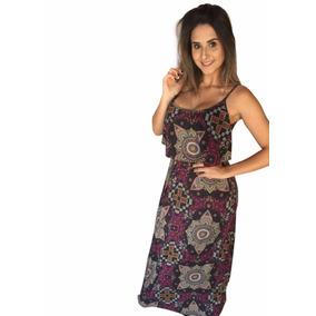 Vestido Feminino Longo Ideal Moda Evangélica Costas Fechada