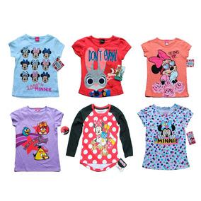 Lote 10 Playeras Blusas Niña Disney Princesas Mimi Mayoreo