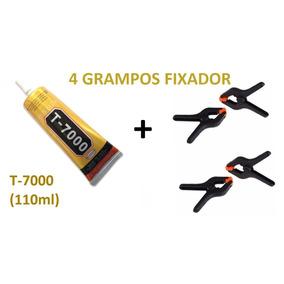 Cola T-7000 + 4 Grampos Presilhas Fixa Tela Touch Celular