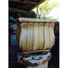 Pacote Com 3 Formas Em Fibra Para Fazer Vasos Em Cimento.