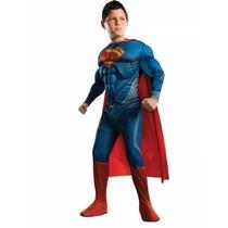Acabou Fantasia Superman Super Homem Infantil Luxo Músculos