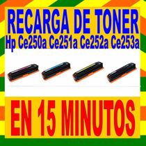 Recarga De Tone Hp Ce250a Ce251a Ce252a Ce253a Para Cp3525