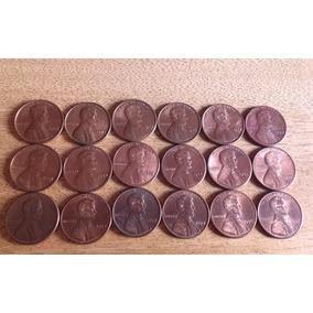 18 Moedas 1967 À 1997 De 1 Cent Americano Falta Pouca Data