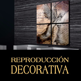 Cuadro Decorativo Mural Ángel Rustico Ideal Living 1.2x1m