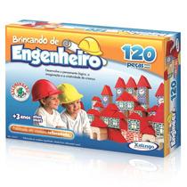 Brincando Engenheiro Lógica Criatividade Imaginação 120peças