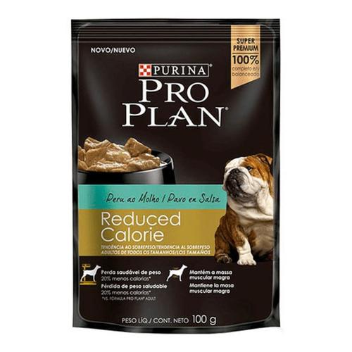Ração Pro Plan OptiFit Reduced Calorie para cachorro adulto todos os tamanhos sabor peru em sachê de 100g