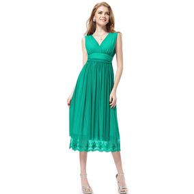 Vestido Fiesta Largo Elastizado Verde Envío Gratis! Serenity