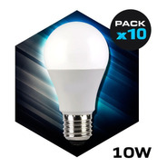 Lampara Led Bulbo 10w Rosca E27 Foco Iluminacion Pack 10