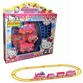 Hello Kitty Ferrocarril Eléctrico De Tren - La Figura De Acc