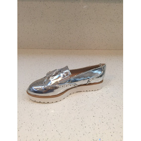 Zapato Oxford Plateado Importado