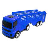 Super Caminhão Boiadeiro Carreta Brinquedo Carga Viva C Boi