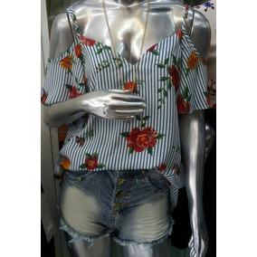 Blusa Floral Listrada Cigana G E Gg Verão