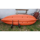 Rebajado Kayak K1 Y Ruedas De Transporte Y Remo Y Chaleco