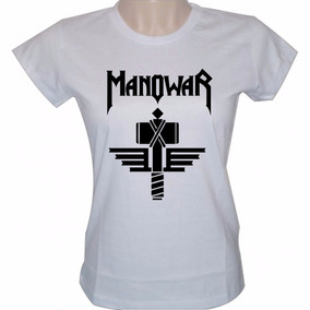 Baby Look Feminina Manowar Banda Rock Camisa Heavy Metal