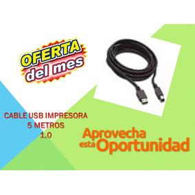 Oferta Cables Originales Usb Impresora 5 Mts Somos Tienda