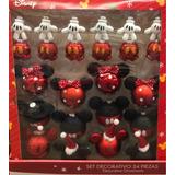 Set Esferas Navideñas Disney Mickey Y Mimi Mouse 24 Piezas