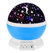 Lampara Led Velador Proyector Estrellas Giratorio Usb
