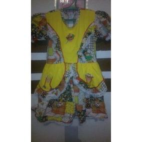 Lindo Vestido Festa Junina Caipira Infantil Colorido Tam 8