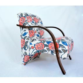 Poltrona Decorativa, Cadeira Braços Madeira