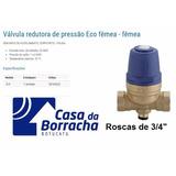 Válvula Reguladora Redutora E Pressão Água 3/4