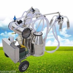 Maquina Ordeñadora Transportable 2 Vacas Extraer Leche 220v