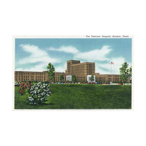 Houston, Texas, Exterior View Of Veterans Hospital Print,