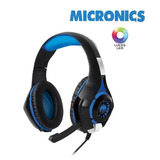 Audífono Gamer Micronics Therodactil Hg800 Con Luces Led