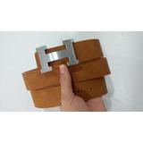 511add9e266 Cinto Luxo Hermes Couro Caramelo Com Fivela Prata Lançamento