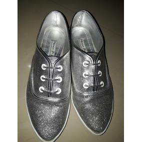 Bellos Zapatos Plateados Maria Pizzola