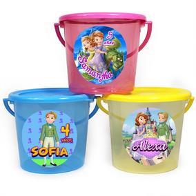 Cubeta Dulcero Botanero Fiesta Infantil Princesita Sofia